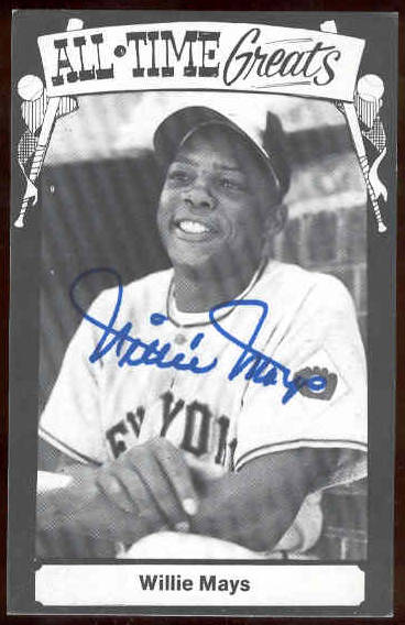 Willie Mays - AUTOGRAPHED 1975 TCMA 'All-Time Greats' Postcard (Giants) Baseball cards value
