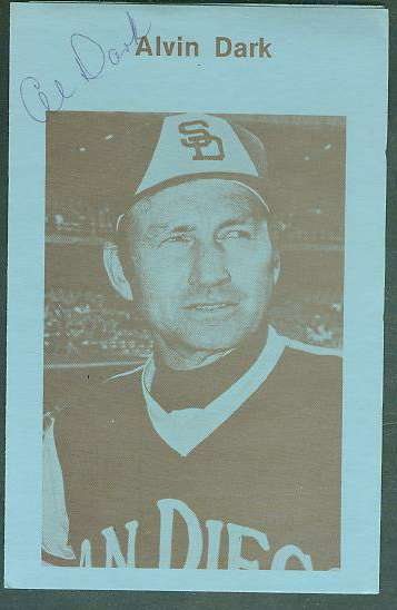 Alvin Dark - AUTOGRAPHED Christian Pamphlet (Padres) Baseball cards value
