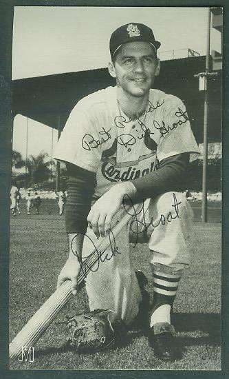 Dick Groat - AUTOGRAPHED J.D. McCarthy postcard (Cardinals) Baseball cards value