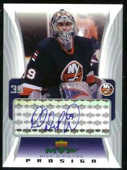 2003-04 UD MVP #PS-RD Rick Dipietro 'PROSIGN' AUTOGRAPH Hockey cards value