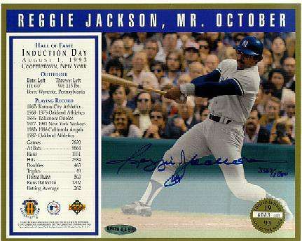 Reggie Jackson - UDA AUTOGRAPHED Commerative Sheet (Yankees) Baseball cards value