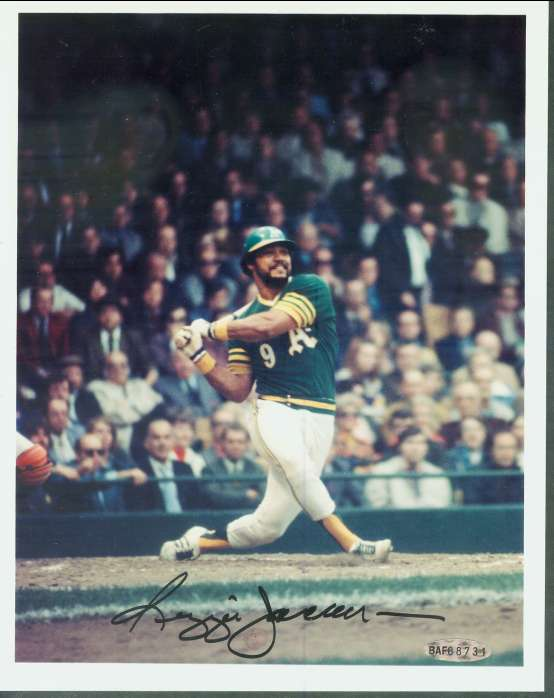 Reggie Jackson - UDA AUTOGRAPHED Color 8x10 (A's) Baseball cards value
