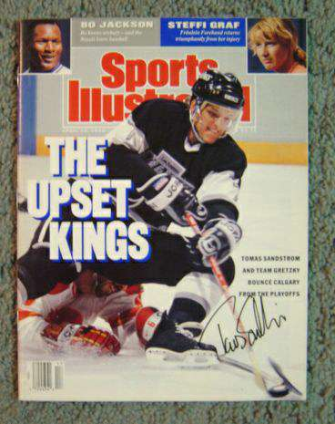 Tomas Sandstrom - AUTOGRAPHED 1990 Sports Illustrated (Kings) Hockey cards value