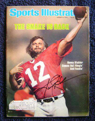 Kenny Stabler - AUTOGRAPHED 1979 Sports Illustrated Football cards value