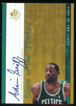 #AG Adrian Griffin - 1999-00 SP Authentic AUTOGRAPHED 'Sign...Times' Basketball cards value
