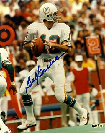 Bob Griese - UDA AUTOGRAPHED Color 8x10 (Dolphins) Football cards value