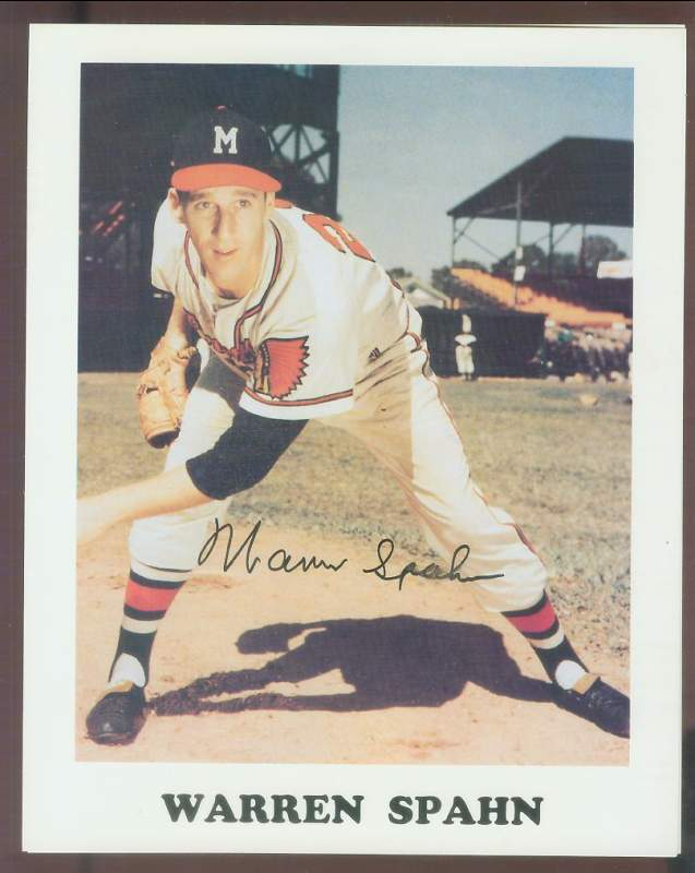 Warren Spahn - Autographed 8x10 (Braves) Baseball cards value