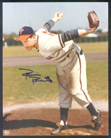 Robin Roberts - AUTOGRAPHED 8x10 Color Photo (Phillies black cap) Baseball cards value