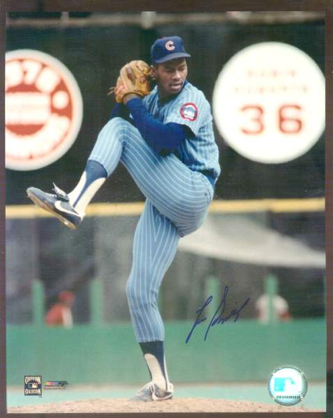 Lee Smith - Autographed 8x10 (Cubs) Baseball cards value