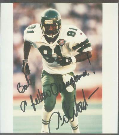 Art Monk - Scarce Autographed Color 8-1/2 x 9-1/2 (Jets) Football cards value