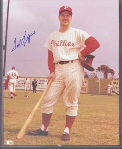 Ted Lepcio - Autographed COLOR 8x10 w/COA (Phillies) Baseball cards value
