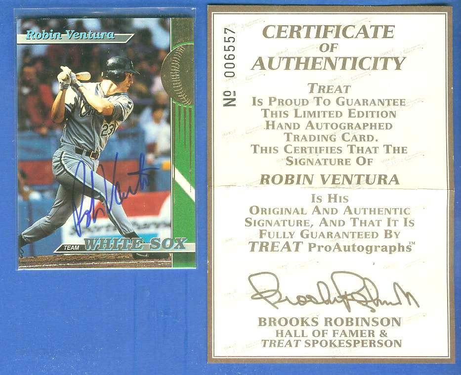 Robin Ventura - 1993 Stadium Club 'Team White Sox' AUTOGRAPHED Baseball cards value