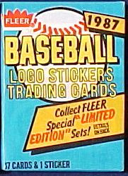 1987 Fleer - Wax  Pack (17 cards) Baseball cards value