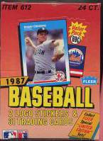 1987 Fleer - Cello Box (24 packs, 31 cards/pack) Baseball cards value