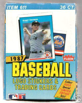 1987 Fleer - Wax Box (36 packs, 17 cards/pack) Baseball cards value