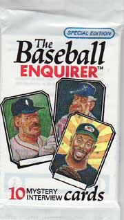1992 Baseball Enquirer - Lot of (10) Wax Packs (10 cards/pack) Baseball cards value