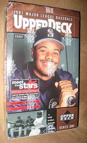 1997 Upper Deck - SEALED Wax Box (Series 1) (24 packs,12 cards/pack) Baseball cards value