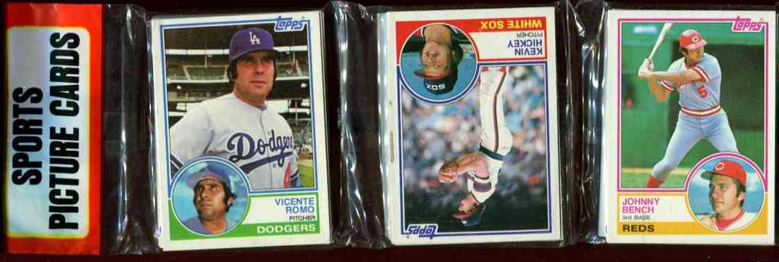1983 Topps rack - With Johnny Bench showing on TOP Baseball cards value