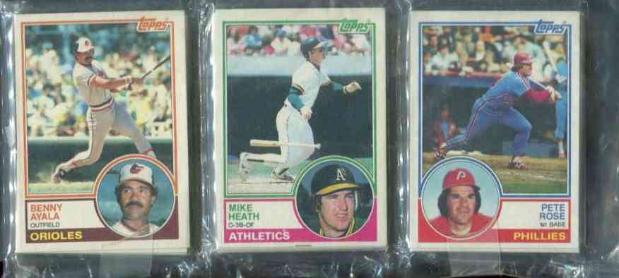1983 Topps rack - With Pete Rose showing on TOP Baseball cards value