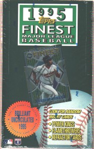 1995 Finest Series 1 - Wax Box (24 packs) Baseball cards value