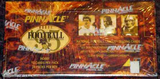 1995 Pinnacle FOOTBALL -  Unopened Box (24 packs,12 cards/pack) Football cards value