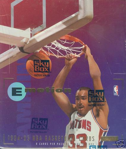 1994-95 E-Motion Basketball - Wax Box (36 packs) Basketball cards value