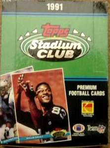 1991 Stadium Club Football - Wax Box (36 packs, 12 premium cards/pack) Football cards value