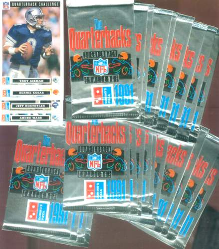 1991 Domino's Pizza 'The QUARTERBACKS' - Lot of (100) Packs Football cards value