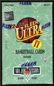 1992-93 Fleer Ultra S2 BASKETBALL -  Unopened Box (36 packs) Basketball cards value