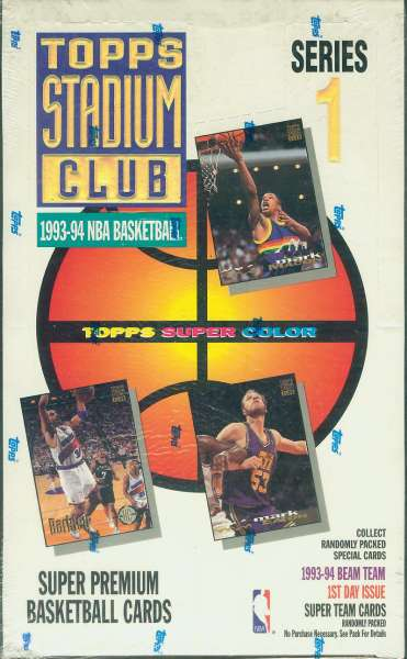 1993-94 Stadium Club BASKETBALL -  Unopened Box Series 1 (24 packs) Basketball cards value
