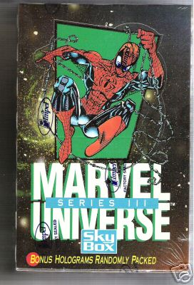 1992 Marvel Universe Series 3 - Sealed Wax Box (36 packs) Non-Sports cards value