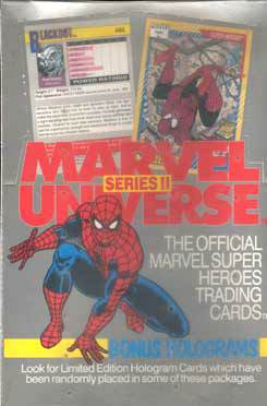 1991 Marvel Universe Series 2 - Sealed Wax Box (36 packs) Non-Sports cards value