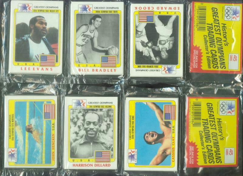 1983/84 Greatest Olympians - w/Cassius Clay (Muhammad Ali) TOP RACK PACK Football cards value