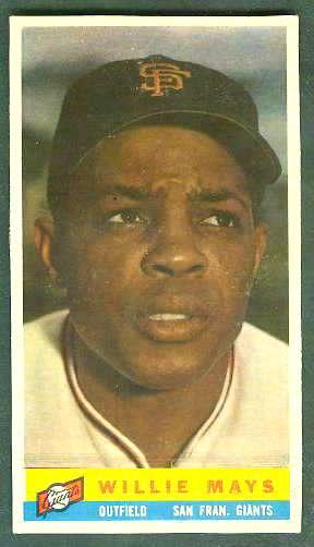 1959 Bazooka #15 WILLIE MAYS [#a] (Giants) Baseball cards value
