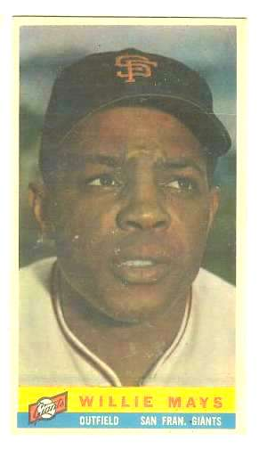 1959 Bazooka #15 WILLIE MAYS [#b] (Giants) Baseball cards value