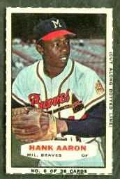 Hank Aaron - 1963-1965 Bazooka #.9 [#a] (Braves) Baseball cards value