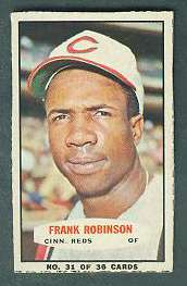 1965 Bazooka #32 FRANK ROBINSON (Reds) Baseball cards value