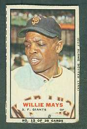 1965 Bazooka #12 WILLIE MAYS (Giants) Baseball cards value