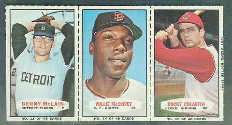 1967 Bazooka COMPLETE PANEL #13-15 WILLIE McCOVEY/Rocky Colavito ... Baseball cards value