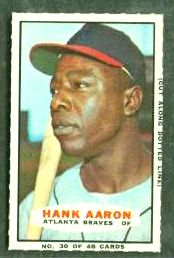 Hank Aaron - 1967 Bazooka #30 (Braves) Baseball cards value
