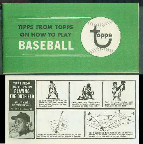 1968 Bazooka  'Tipps from Topps' BOOKLET Baseball cards value