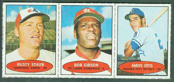 1971 Bazooka COMPLETE PANEL #NoNum BOB GIBSON/Rusty Staub/Amos Otis Baseball cards value