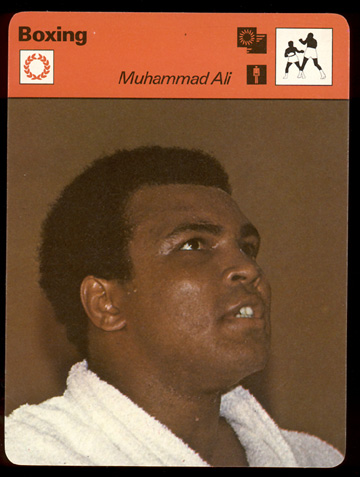 1977-79 Sportscaster BOXING card #01-03 Muhammad Ali (printed in JAPAN) Baseball cards value