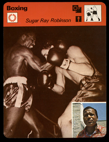 1977-79 Sportscaster BOXING card #07-19 Sugar Ray Robinson (printed in JAPA Baseball cards value