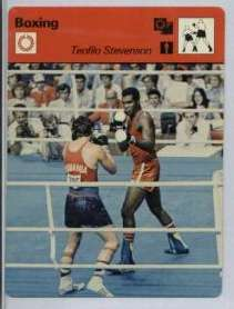 1977-79 Sportscaster BOXING card #02-23 Teofilo Stevenson (printed in JAPAN Baseball cards value
