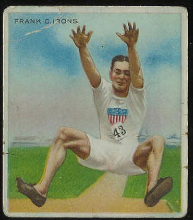 1910 T218 Hassan TRACK - Frank Irons Baseball cards value