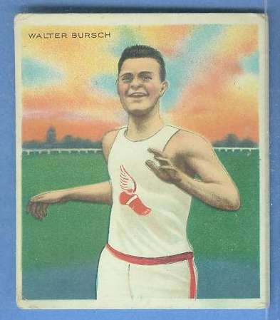 1910 T218 Mecca TRACK - Walter Bursch Baseball cards value