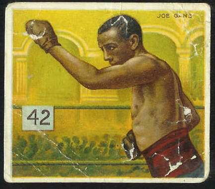 1910 T218 Mecca BOXING - Joe Gans Baseball cards value