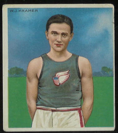 1910 T218 Mecca TRACK - W.J. Kramer Baseball cards value