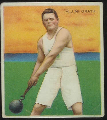 1910 T218 Mecca TRACK - M.J. McGrath Baseball cards value